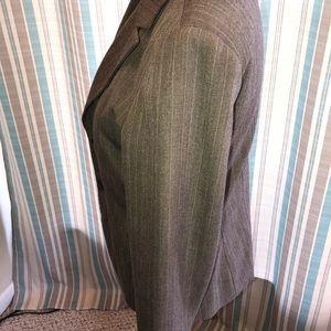 Jackets & Coats - Brown Pinstripe Blazer